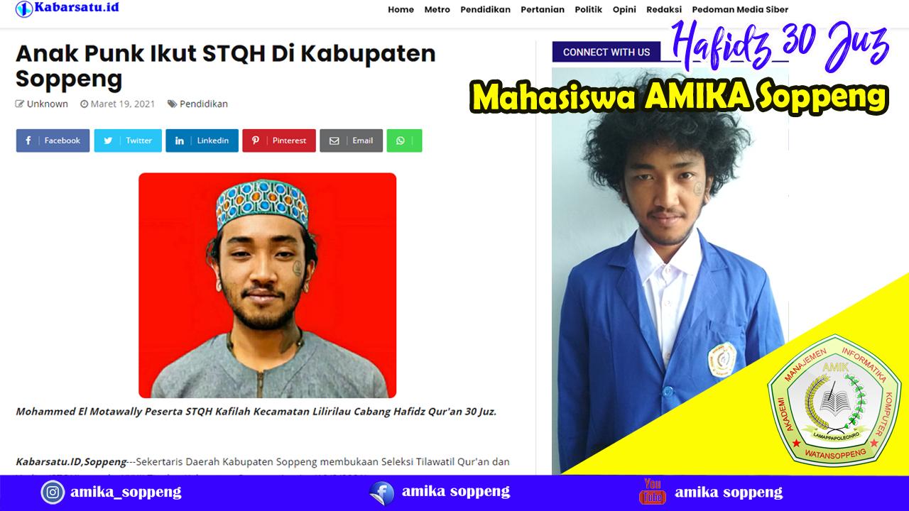 Mahasiswa AMIKA Soppeng Ikut STQH Di Kabupaten Soppeng